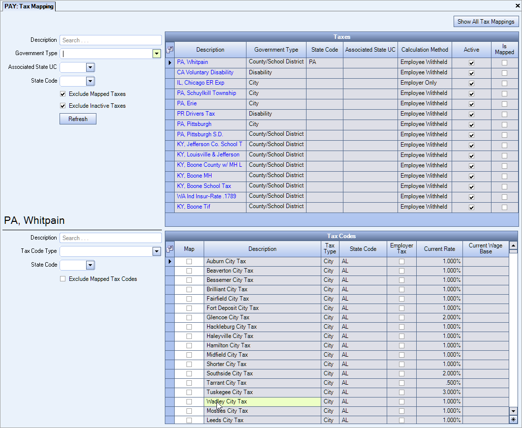 Tax Mapping for Payroll Tax Automation